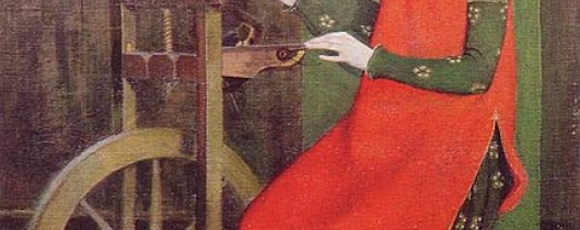 429px-marianne stokes st elizabeth of hungary spinning for the poor