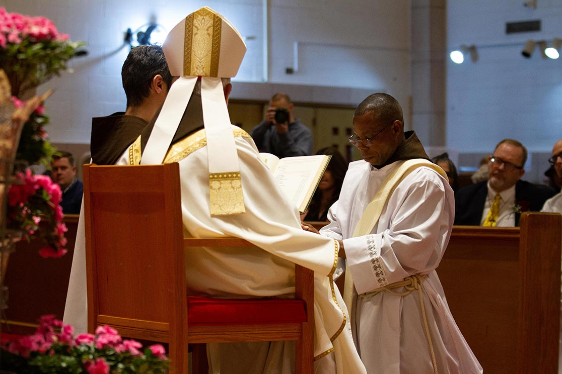 Br. Anthony Kote-Witah at his priestly ordination