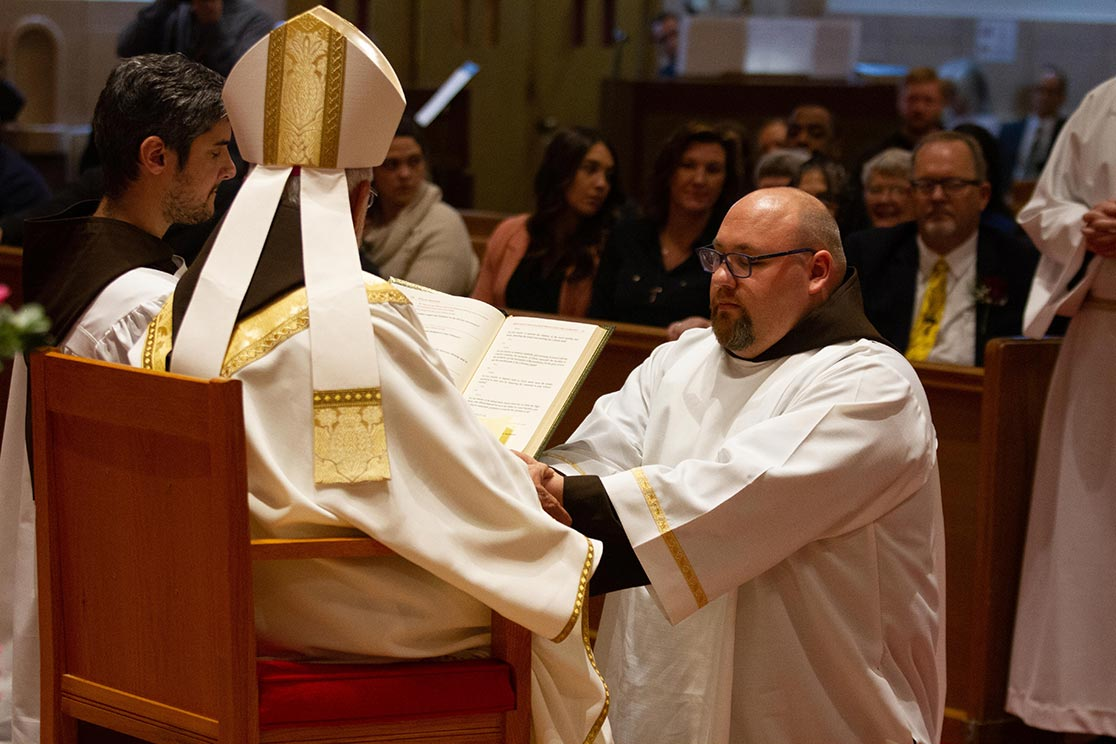 Br. Fred Cabras at his diaconate ordination