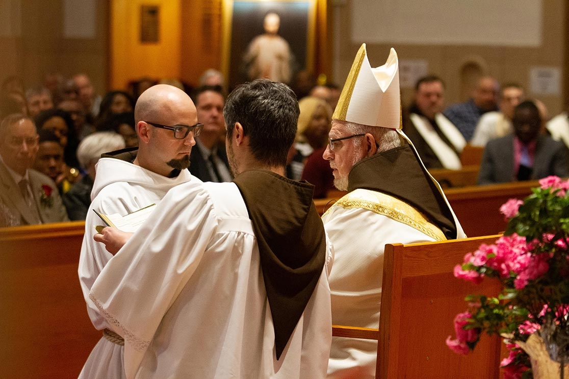 Br. M.J. Groark at this diaconate ordination